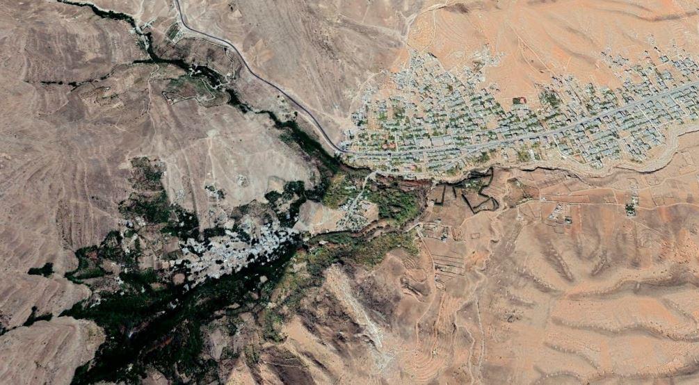 map of Qalat village